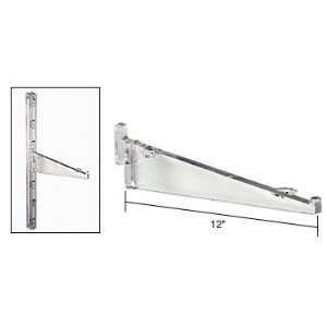crl 12 inch clear polycarbonate shelf bracket ebay. Black Bedroom Furniture Sets. Home Design Ideas