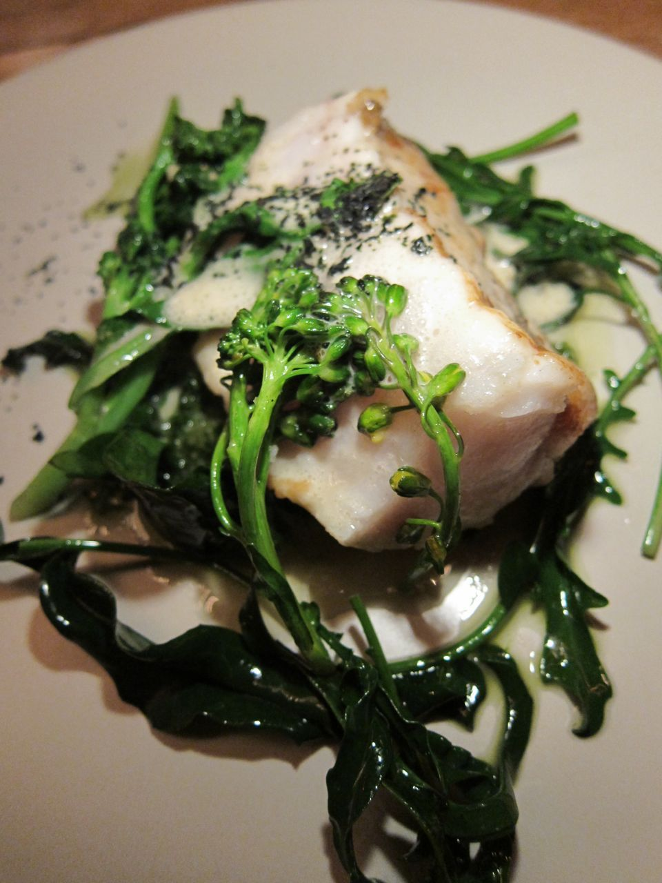 The salting of the monkfish is so perfect I imagine the fish was born already salted.