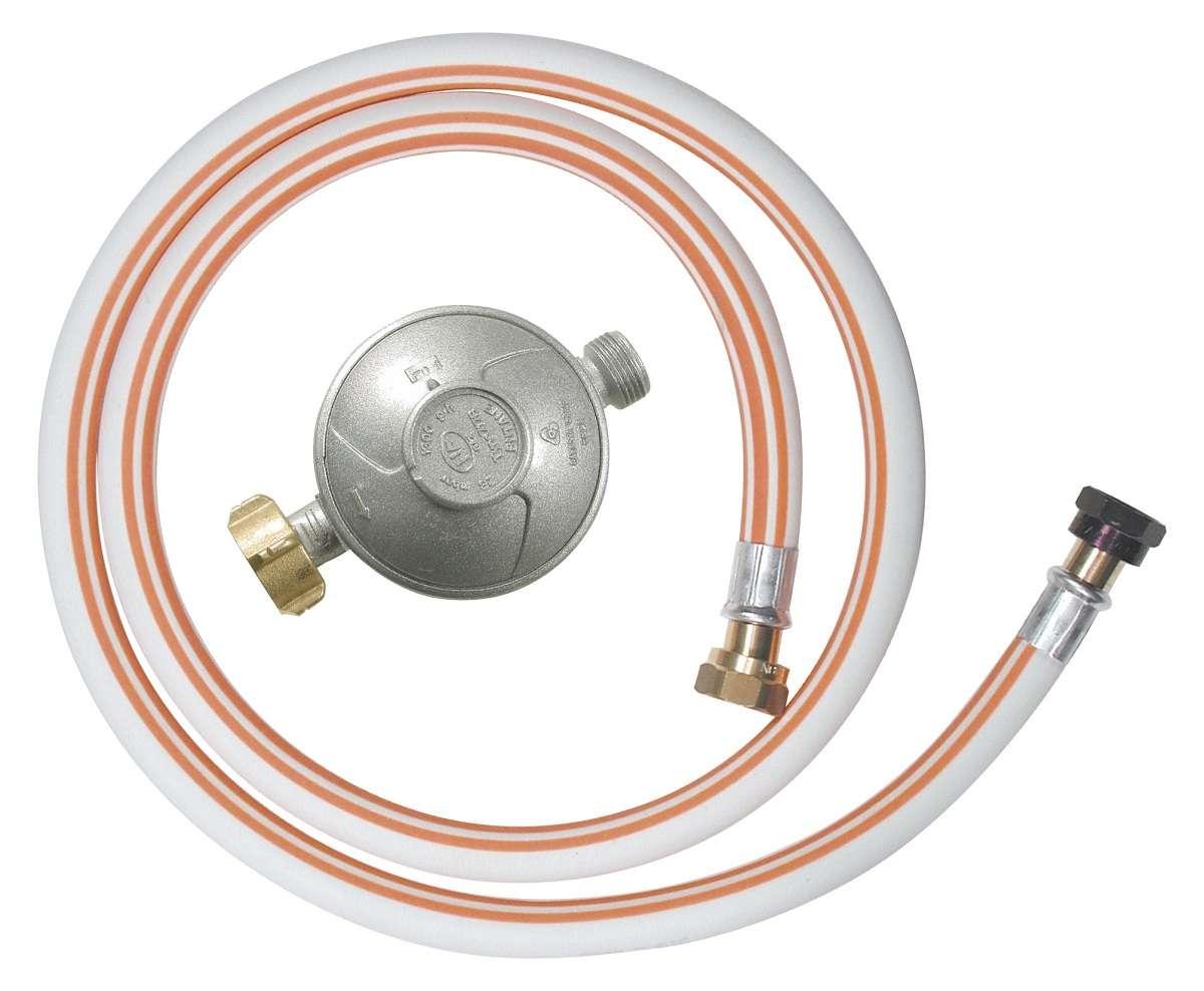 kit raccordement gaz butane tuyau flexible 1m50 detendeur ebay. Black Bedroom Furniture Sets. Home Design Ideas