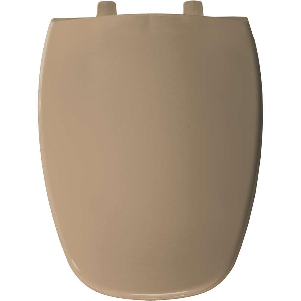 Church Bemis 1240200148 Eljer Emblem Plastic Round Toilet Seat Sandalwood