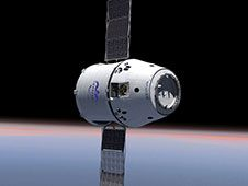 Image above: The Dragon capsule<br /> illustrated in this artist&#39;s concept,<br /> is under development by Space Exploration<br /> Technologies (SpaceX) of Hawthorne, Calif.<br /> Image credit: Space Exploration Technologies&nbsp;&nbsp; <br /> <a href='http://www.nasa.gov/images/content/721785main_Dragon.jpg' class='bbc_url' title='External link' rel='nofollow external'>� View Larger Image</a>